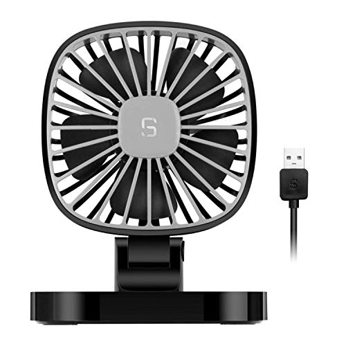 FUNXS Ventilador eléctrico para automóvil USB de 5 V, ventilador de enfriamiento...