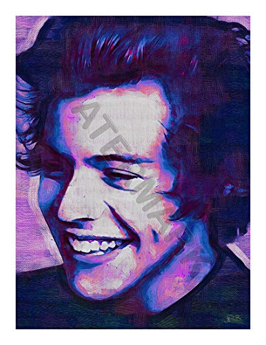 JR Bouvier Harry Styles 1 Direction Large Art Print Poster 32x24 inch Stil Große Kunst