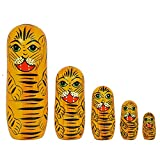 Best Family Gifts - Set Of 5 Piece Beautiful Wooden Tiger Family Review
