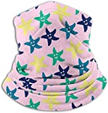 Fleece Neck Warmer Gaiter Color Starfish Soft Microfiber Headwear Face Scarf Mask For Winter Cold Weather & Keep Warm For Mens Womens
