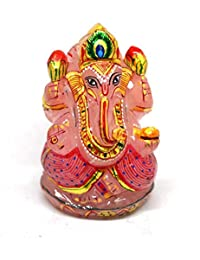 Ratnavali Arts Natural Rose Quartz Ganesha figure