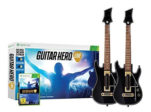 Guitar Hero - Live inklusive 2 x Gitarre für XBOX 360 (Gitarre Controller 360 Für Xbox)