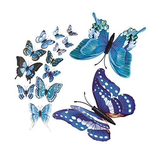 Dtuta 3D Butterfly Kombination WillküRliche Heimtextilien Moderne Kunst Wandtattoo Aufkleber Schmuck (Hello Kitty Aufkleber Für Die Wand)