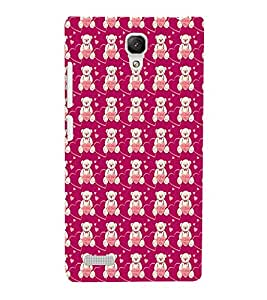 EPICCASE lovely bear Mobile Back Case Cover For Xiaomi Redmi Note 4G (Designer Case)