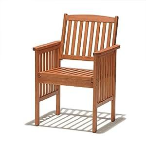 Chichester Chaise de jardin en bois d'eucalyptus certifié FSC