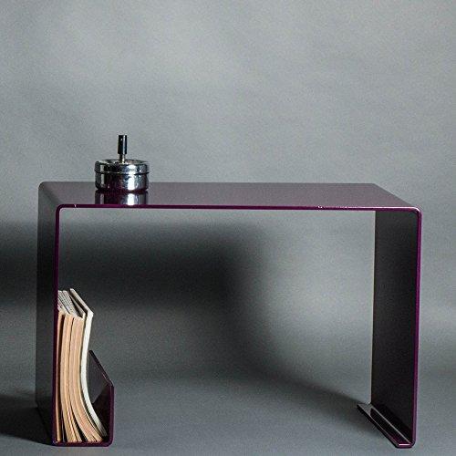 DiaDorn Couchtisch| 6 mm gebogenem Stahl | Lila | Beistelltisch | Tisch| Bauhaus | Moderne