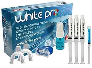 """Blanchiment dentaire -Kit lampe blanchiment des dents -30ml gel """"zero peroxyde"""" 3x10ml + activateur anti-tache + gel reminéralisant - Sans Sodium Perborate 0%"""