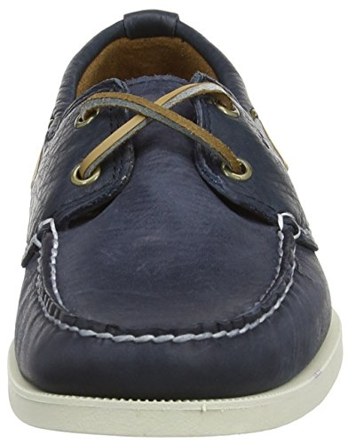 Timberland EK Hert 2 Eye Herren Bootsschuhe Blau (Navy with Finish Plan)