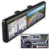 Espejo retrovisor con GPS, de la marca BW, con manos libres y mapas de Europa integrados