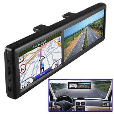 BW 4.3 Zoll-hinterer Ansicht-Spiegel mit GPS-Navigation, Auto Bluetooth freihändige benennende 4GB eingebaute (Gps Specchietto Retrovisore)