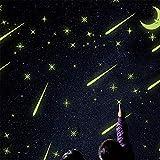 Zhangcaiyun 1034/5000 Stickers de Plafond luisant dans l'ob Stickers muraux Mots Lumineux dans la Nuit - Météore - Brillance dans Le Noir Papier Peint pour Chambre d'enfants Plafond