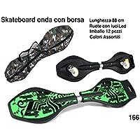 SKATEBOARD ONDA+BORSA/RUOTE LED 88 166