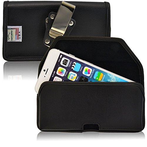 iPhone 6s custodia da cintura, Turtleback Heavy Duty Apple iPhone 6S telefono, astuccio in pelle nera con clip per cintura orizzontale Made in USA
