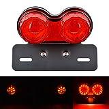 KaTur Motorrad Rücklicht 40W 40 LEDs Integrierte Lauf Bremslicht Blinker Lampe mit Kennzeichenhalter für Harley Honda Yamaha Suzuki Kawasaki ...