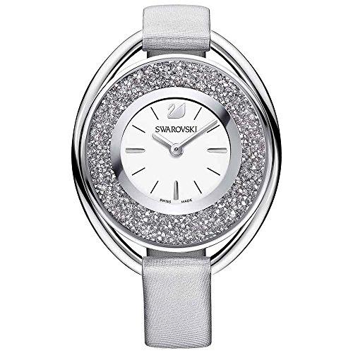 Swarovski crystalline ovale grigio orologio da donna 5263907
