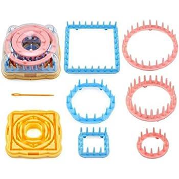 Pixnor 9pcs Knit de métier à tisser en plastique fixée rond pour tricot BRICOLAGE artisanat