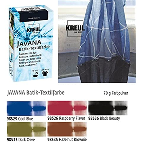 Javana - Lote de tintes para técnica Batik sobre textiles (5 unidades), colores oscuros