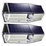 Mpow Luz Solar de Exterior 66LED, Lámpara Solar IP66 Impermeable con 3 Modos, Iluminación de 270° con Sensor de Movimiento de 120° para Pared, Jardín, Garaje, Camino, 2 Piezas