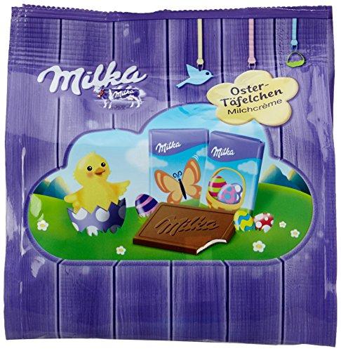 Milka Oster-Täfelchen - Neues Design - Zartschmelzende Schokoladen Tafeln aus feinster Alpenmilch mit Milchcrème Füllung - 7 x 150g (Oster Schokolade)
