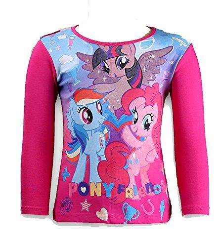 Mädchen Langarmshirt (98, Pink 2) (My Little Pony Rainbow Dash Hoodie)
