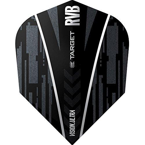 Raymond van Barneveld Vision Ultra Dart Flights–Target Nr. 6Form Ghost–10Sets (30)–mit Darts Ecke gebogen Kugelschreiber (Darts Ghost)