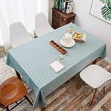 AKSHOME Moderne Minimaliste Nappe Plaid Imperméable Anti-Poussière Anti-Rides Nappe Rectangulaire Table Basse Table Ronde Cuisine Patio Café Fête Pique-Nique Vert Foncé 90X140cm(35.4X55.1inches)