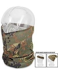Tactical Headband Versatile Scarf Cap Headwrap Army Face Mask Flecktarn Camo