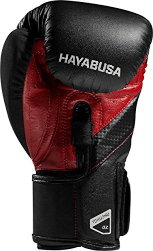 Hayabusa T3 Boxing Gloves (Black/Red, 10oz)