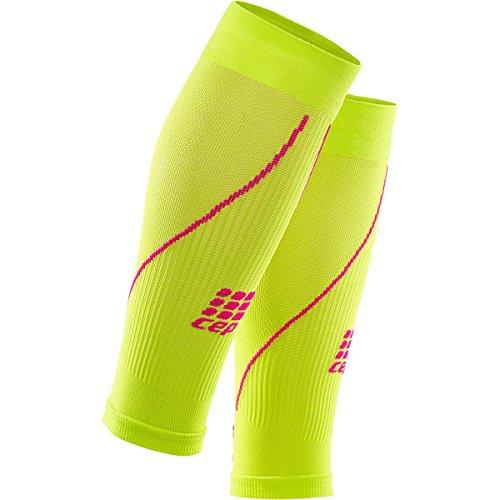 CEP Damen Progressive + Compression Waden Sleeves, damen, yellow (Lime/Pink), III