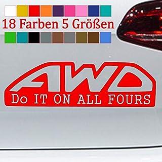 Generic AWD Allrad Aufkleber Quattro Audi Tuning JDM OEM Sticker 4x4 18 Farben 5 Größe