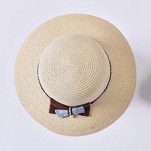 yxiny sole cappelli da donna sole cappelli UPF + Larghezza bordo estivo  Fischer coperchio pieghevole spiaggia 7abb52816491