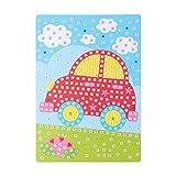 Healifty Mosaik Kinder Basteln Bilder, Auto Muster