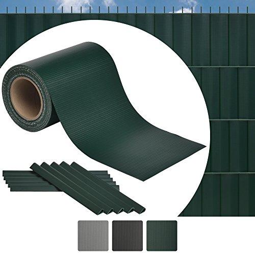 Sol Royal SolVision ST6 - Brise vue PVC - Vert - Lanière pour palissade cloture - A tresser - 35 m x 19 cm - fixations inclus