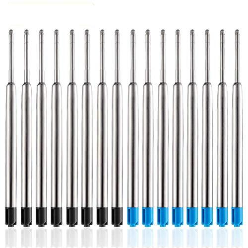 YOTINO Set di Ricariche Per Penne Parker 30 Pezzi Penna a Sfera Refill Nero e Blu