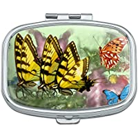 Schmetterlinge Schmetterling Zauberhafte Emergence Tiger Schwalbenschwanz Rechteck Pille Fall Schmuckkästchen... preisvergleich bei billige-tabletten.eu