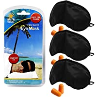 Sicher Reisen Schlafmaske Komfort Schatten + Schaumstoff Lärm reduzierende Ohrstöpsel Single Set–3x Augenmaske... preisvergleich bei billige-tabletten.eu