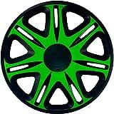 J-Tec J13513 Nascar - Tapacubos (33 cm), Color Negro y Verde