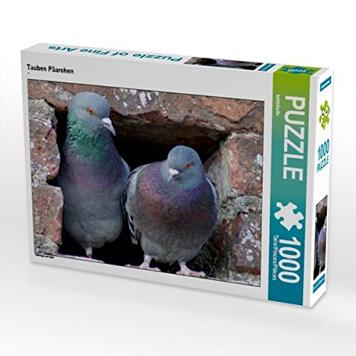 Tauben Päarchen 1000 Teile Puzzle quer