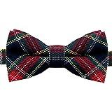 1 Fliege Schleife Verstellbar Kariert Karo Muster Gebunden Herren Anzug Hemd Hochzeit Business Krawatte Schlips Rot Grün, Modell:Modell 33