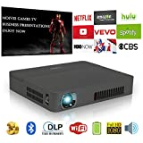 Digitale HD 3D Wifi Bluetooth Wireless tascabile DLP Proiettore Mini Pico Smart LED Video Proyector 1080p supporto Airplay Miracast HDMI USB Audio Out SD per iPhone Android Smartphone Tablet portatile