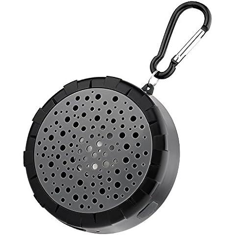 SoundPEATS P4 Altavoces Bluetooth portátil impermeable Altavoz de Ducha estéreo y Batería Recargable Compatible con dispositivos Bluetooth para Baño, Playa