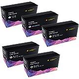 CARTRIDGES KINGDOM® Cartuchos de Toner Laser compatibles con HP CF400A, CF401A, CF403A, CF402A / 201A - Negro/Cian/Magenta/Amarillo (Pack de 5)