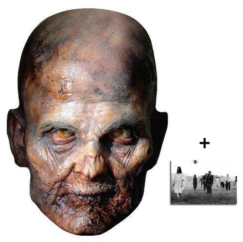 The Walking Dead Raisin Zombie Karte Partei Gesichtsmasken (Maske) - Enthält 6X4 (15X10Cm) starfoto