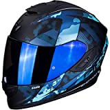 SCORPION - Casque moto EXO-1400 AIR SYLEX Matt Black-Blue - S