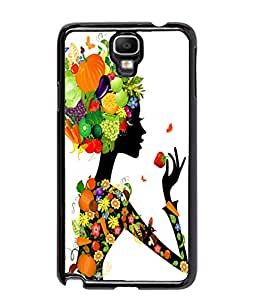 Fuson Fruits Girl Pattern Back Case Cover for SAMSUNG GALAXY NOTE 3 NEO - D3842