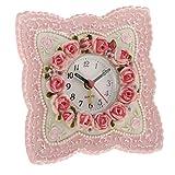 Homyl Landhaus Stil Rosa Rose Blume Alarm Schreibtisch Uhr Harz Arabisch Zifferblatt