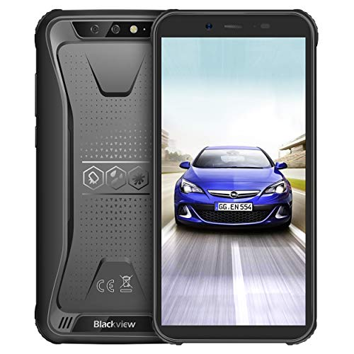 Blackview BV5500 Outdoor Handy IP68 Wasserdicht Smartphone, 4400mAh Batterie, 16GB interner Speicher, 13MP+5MP Kamera, 5.5 Zoll 18:9 HD mit WiFi GPS Kompass Schwarz