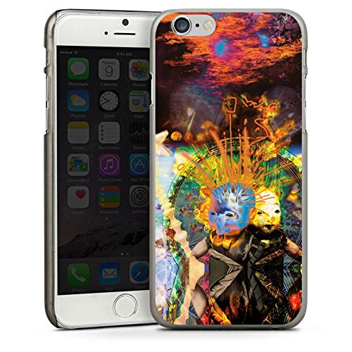 Apple iPhone 6 Housse Étui Silicone Coque Protection Galaxie Galaxie Ciel CasDur anthracite clair