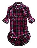 Match Damen Flanell Kariert Shirt #B003(2021 Checks#8,Medium(Fit 35''-37''))