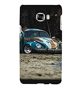 Printvisa Vintage Rusty Automobile Back Case Cover for Samsung Galaxy C7